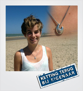 Zilveren ketting verloren en gevonden op het strand - Breskens - Metaaldetector Zoekservice Zeeland