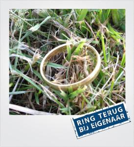 Gouden ring verloren en gevonden in het gras - Renesse - Metaaldetector Zoekservice Zeeland