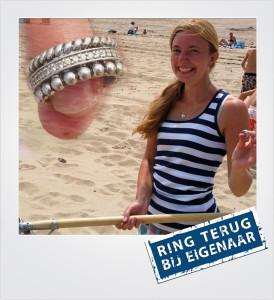 Zilveren ring verloren en gevonden op het strand - Westenschouwen - Metaaldetector Zoekservice Zeeland