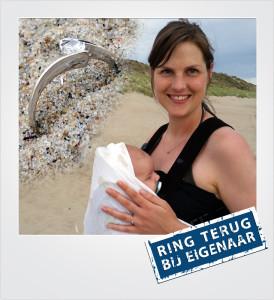 Witgouden ring verloren en gevonden op het strand - Westenschouwen - Metaaldetector Zoekservice Zeeland