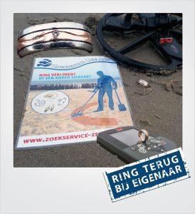 Trouwring verloren Domburg Metaaldetector Zoekservice Zeeland