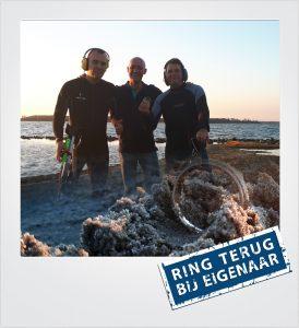 Trouwring verloren Veerse Meer Metaaldetector Zoekservice Zeeland
